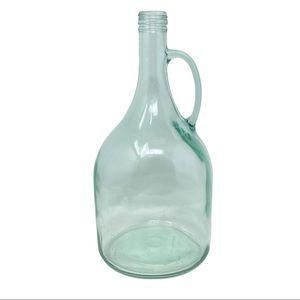 Large Green Tint Wine Glass Vaseline Jar Vintage